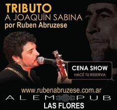 Tributo a Joaquín Sabina por Ruben Abruzese, cantante de Buenos Aires, Argentina. www.rubenabruzese.com.ar
