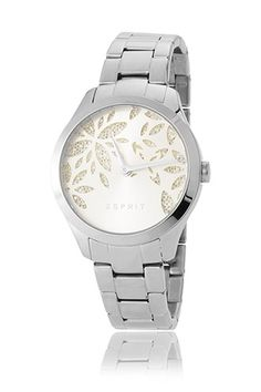 Esprit / Edelstahluhr mit Zirkonia-Blüten