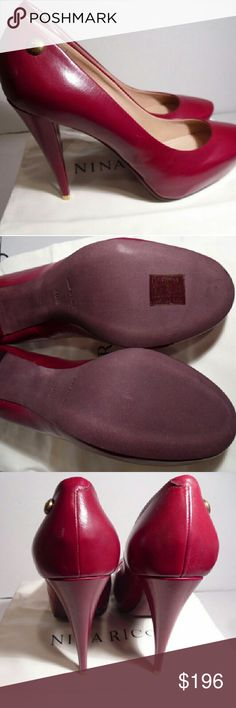 "NEW Nina Ricci ""Nina Clean Pump"" Retail Price $575.00  Comes with Box Nina Ricci Shoes Heels"