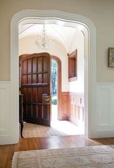 Creating a Period Entryway. Regardless of its traditional style, the front door, the signature of the home's architecture, is designed to make a grand entrance.