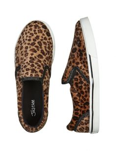 Fuzzy Leopard Slip-on Sneakers   Girls Sneakers Shoes   Shop Justice