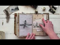 French Farmhouse Junk Journal by Sam Poole! - YouTube Junk Journal, Journal Art, French Farmhouse, Card Tutorials, Show And Tell, Vintage Images, Scrapbook, Youtube, Cards