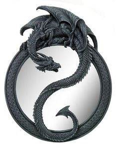 20 Inch Resin Dragon Ying Yang Celtic Wall Hanging Glass Mirror >>> Details can be found by clicking on the image-affiliate link. #Mirrors