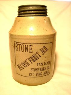 Stone Canning Jar - i have one of these! it was my grandmothers!