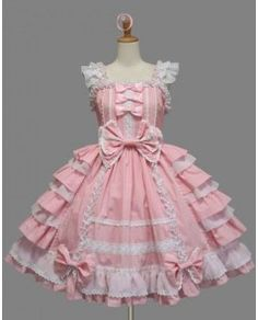 Cap Sleeves Bow and Ruffle Sweet Lolita Dress.. I know it's super froo froo but I couldn't resist lol