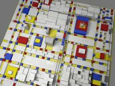Mondrian's Broadway Boogie Woogie 3D adventure: very out of the box!