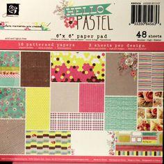 Prima Hello Pastel 6 x 6 Scrapbook Paper Pad is available at Scrapbookfare.com.