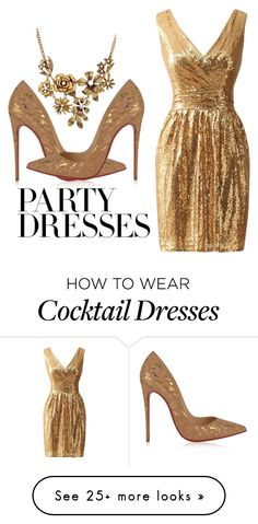 """""""#PolyPresents: Party Dresses"""" by bashoorah on Polyvore featuring Christian Louboutin, WithChic, contestentry and polyPresents Glamorous Evening Gowns, Evening Dresses, Dress Outfits, Fashion Outfits, Womens Fashion, New Years Eve Dresses, Classic Outfits, Casual Chic, Dress To Impress"""