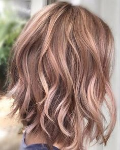 I can't find the source for this pic yet ~ balayage-wavy-lob-hairstyles-pastel-hair-color-ideas-2017