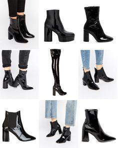 Patent Leather Boots.   Victoria Törnegren   Bloglovin'
