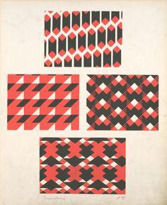 Four geometric compositions.  Creator: Durenceau, André, 1904