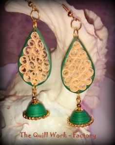 Beehive Quilling Earrings | Quilling - paper made hook jhumka - brown -online shopping for ...