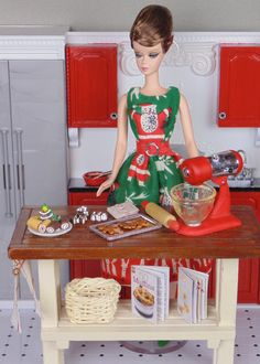 Barbie baking Christmas cookies