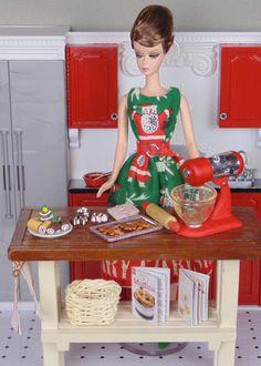 Barbie baking Christmas cookies