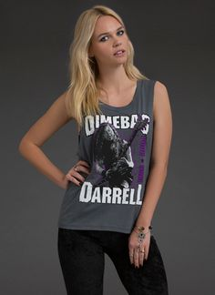 Dimebag Darrell Sleeveless Tee | Graphic Tees