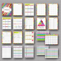 Colorful All-In-One Printable Planner