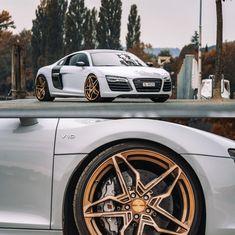 AUDI R8 mit CORSPEED KHARMA in higloss bronce, brushed surface #corspeed #corspeedwheels #concavewheels #konkav #bronce #tuning #carpoprn #carsofinstagram #tuneitlegal #audi #r8 #audir8 #audilove #motorsport #autozubehöroutlet Motorsport, Audi R8, Wheels, Bmw, Vehicles, Sports, Bronze, Concave, Hs Sports