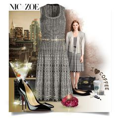 From Coffee to Cocktails with NIC+ZOE by debi820 on Polyvore featuring polyvore, fashion, style, NIC+ZOE, Christian Louboutin, McQ by Alexander McQueen, Mulberry, Jane Norman, River Island, Topshop, Luigi Bormioli and clothing