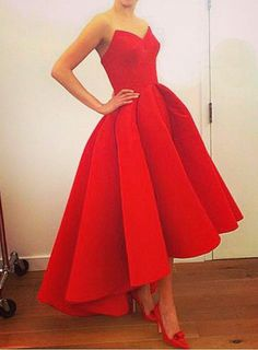 Red Ball Gown Dress