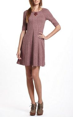 Love this Anthropologie dress - Super simple, but you can do a lot with it. I'll take the shoes, too :)