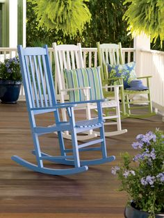 Porch Rocker - Gardener's Supply Company...another outdoor rocker...but need black.  on sale $149.99