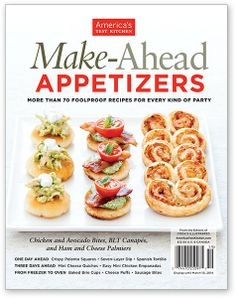 America Test Kitchen Make Ahead Appetizers