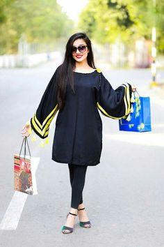 Pakistani Fashion Party Wear, Pakistani Dresses Casual, Pakistani Dress Design, Indian Fashion, Casual Dresses, Frock Fashion, Fashion Pants, Fashion Dresses, Stylish Dresses For Girls