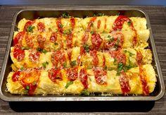 Naleśniki zapiekane z mięsem i warzywami - Blog z apetytem Quiche, Macaroni And Cheese, Zucchini, Pizza, Vegetables, Breakfast, Ethnic Recipes, Blog, Cement