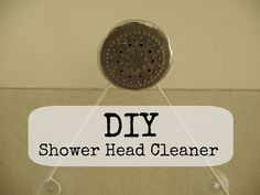 Shower head cleaning--vinegar and baking soda