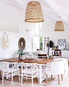 Scandinavian Dining Room Design: Ideas & Inspiration - Di Home Design Dining Room Inspiration, Interior Inspiration, Design Inspiration, Interior Ideas, Interior Colors, Interior Styling, Style At Home, Coastal Living Rooms, Coastal Cottage