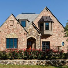 tan brick house exterior design ideas, pictures, remodel and decor
