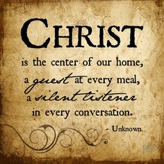 Christ is the center of our home - Printable Home Decor Artwork - High Resolution JPG. $7.95, via Etsy.
