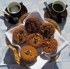 Muffins di Avena con Cranberry e Noce