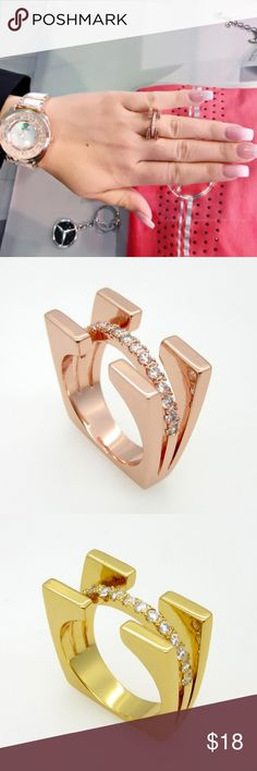 Happy Women's Day Special Price only today❗️ Fashion Luxury Jewelry. New Arrival!  Ring For Women.  Gold Plated With AAA Zircon. Size: gold 6, rose gold 7. Jewelry Rings