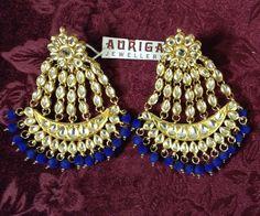 Passa jhoomer earrings with blue velvet beads by Auriga ! Blue Velvet, Jewellery, Beads, Earrings, Fashion, Beading, Ear Rings, Moda, Jewelery