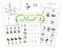 Free Knight Preschool Pack from Homeschool Creations