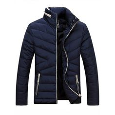 50.15$ Watch now - http://diffr.justgood.pw/go.php?t=198862211 - Stand Collar Zip-Up Thicken Down Jacket 50.15$