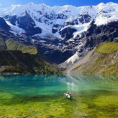 Laguna Humantay, Salkantay - Mollepata, Región Cusco .
