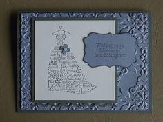 Stampin' Up Wedding or Bridal Shower Card Kit ~ Makes 6 | eBay