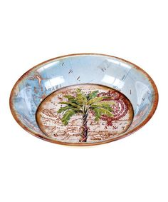 Another great find on #zulily! Antique Palms Serving Bowl #zulilyfinds