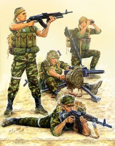 Soviet fire support team, Russian Special Forces in Afghanistan