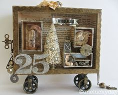 One Lucky Day: Gilded Christmas Box...http://www.oneluckyday.net/2013/12/good-times.html
