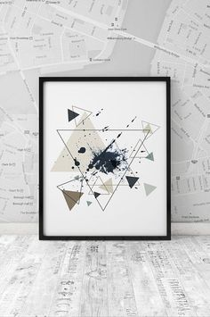 Minimalism poster printable print Geometrical by ArtFilesVicky