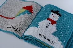 "Instant Download Crochet Pattern ""What is the weather today?"" baby soft book.Make a beautiful baby gift book to talk about weather, suitable for babies and toddlers.Inspired by my desire to see children reading from an early age, this book has been designed to help stimulate conversation with it's bright pictures. It is never too early to introduce a baby to books and this one is ideal to enjoy together, washable, baby safe and fun.The pattern includes full colour charts to make..."
