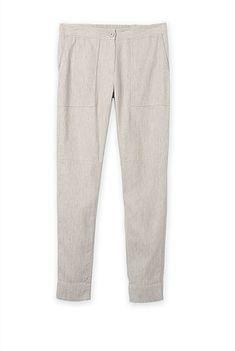 Linen Cotton Twill Pant Twill Pants, Pants Outfit, Pajama Pants, Pajamas, Women Wear, Sweatpants, Grey, Cotton, Outfits