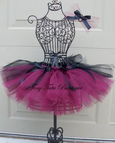 Items similar to Chic Victorian- child/baby tutu with hairbow: on Etsy Dress Form Christmas Tree, Gold Tutu, Baby Kids, Child Baby, Dress Painting, Dress Form Mannequin, Cottage Crafts, Baby Tutu, Sewing Projects For Beginners
