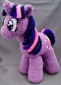 Twilight Sparkle inspired Pony unicorn amigurumi by LLsCreations83, $44.99