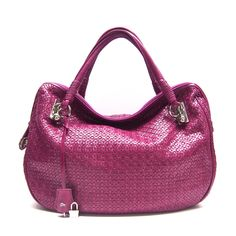woven leather tote <3