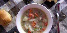 Creamy Mashed Potato & Turkey Soup
