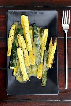 How about a healthier alternative side dish for those grilled burgers or steaks? Grilled Zucchini with Lemon Dijon Dill Dressing. Your new go-to dressing for any grilled vegetables.